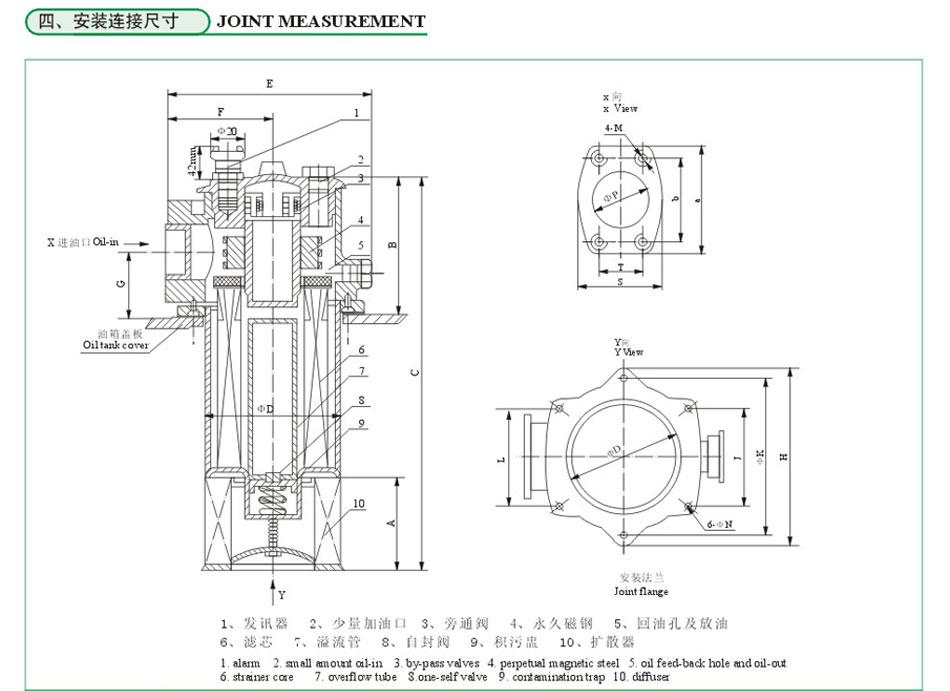 船用油仓透气帽结构图